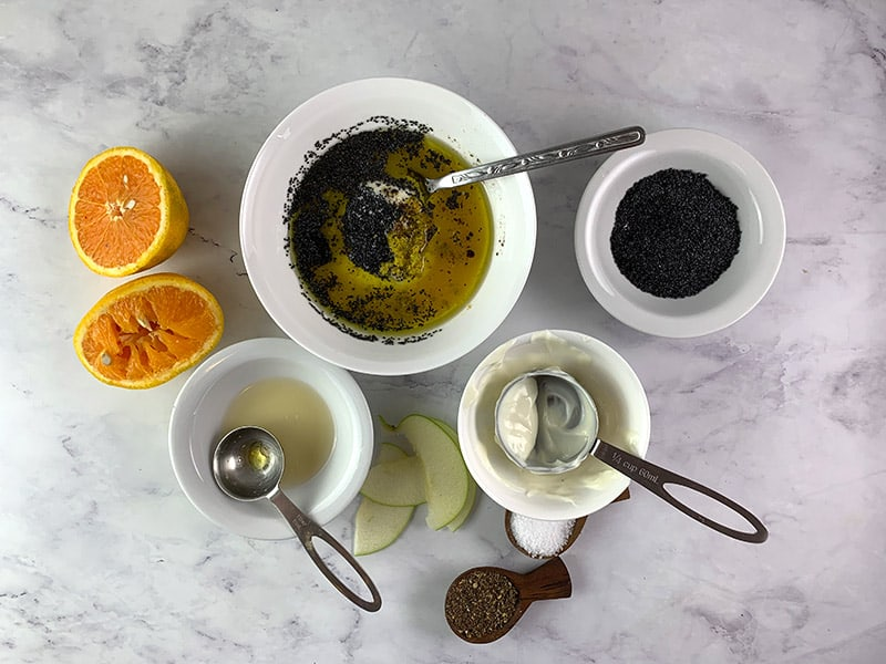 INGREDIENTS FOR CREAMY POPPYSEED DRESSING