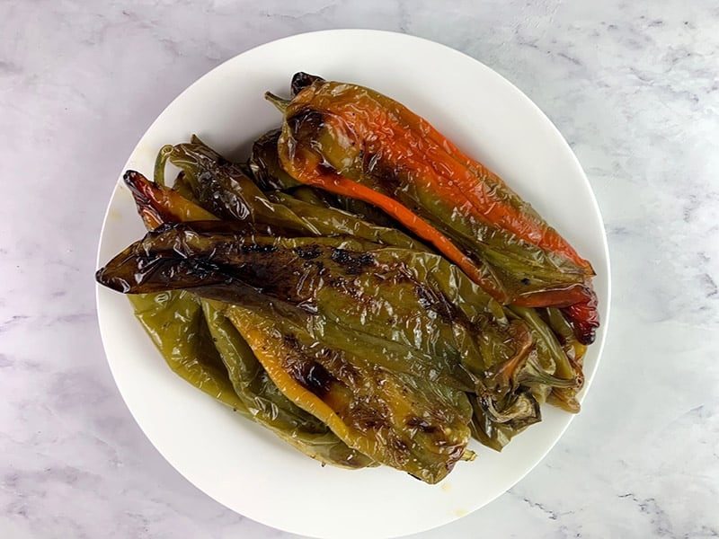 ROASTED PEPPERS ON A PLATE