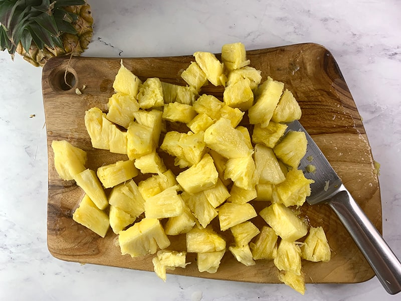 PINEAPPLE CUT INTO BITE SIZED WEDGES