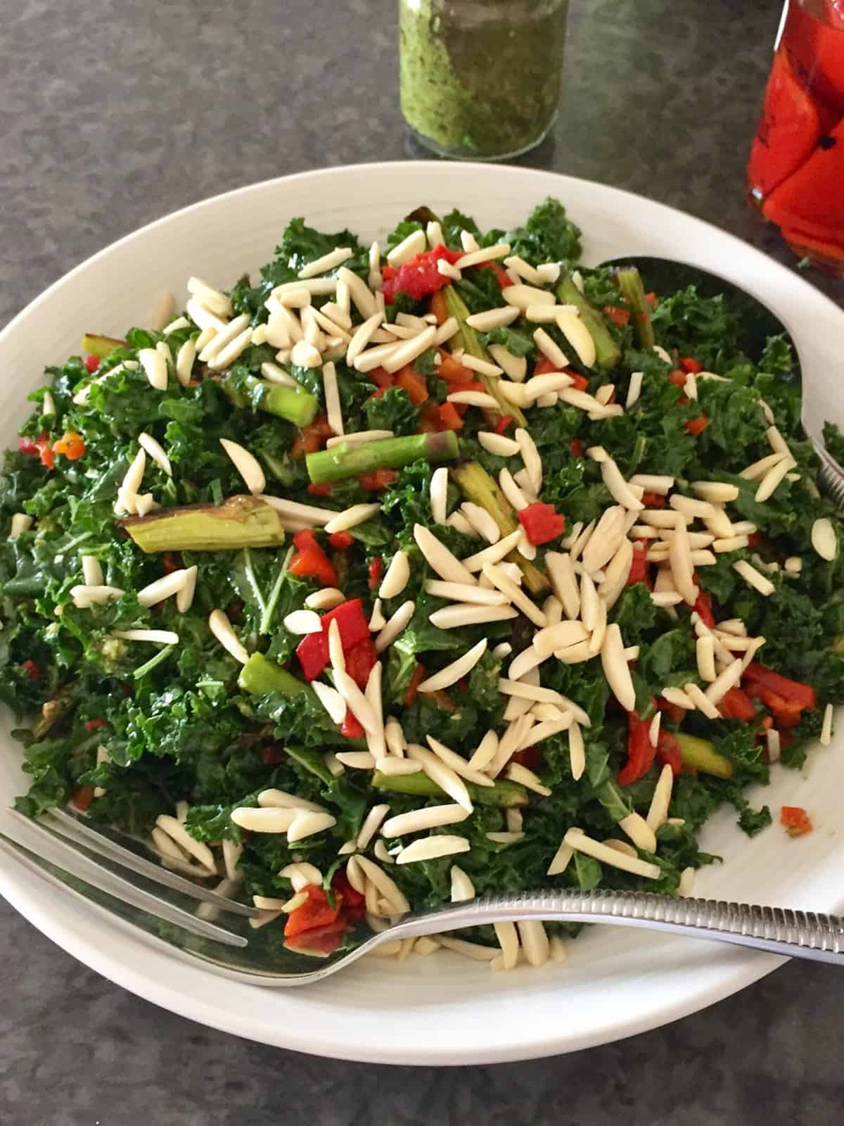 GRILLED ASPARAGUS & KALE SALAD PORT