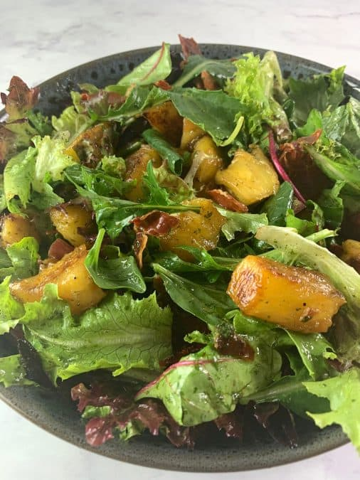 CLOSE UP OF PINEAPPLE SALAD