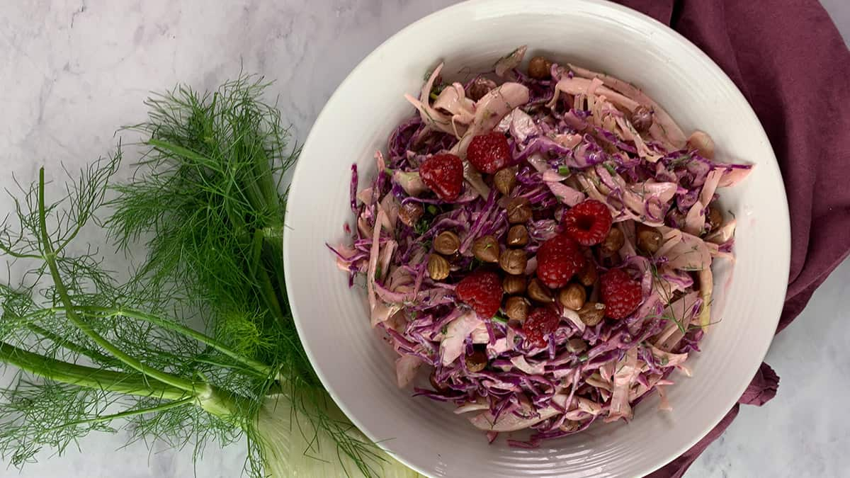 RED CABBAGE & FENNEL SALAD