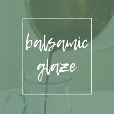 TITLE PAGE FOR BALSAMIC GLAZE
