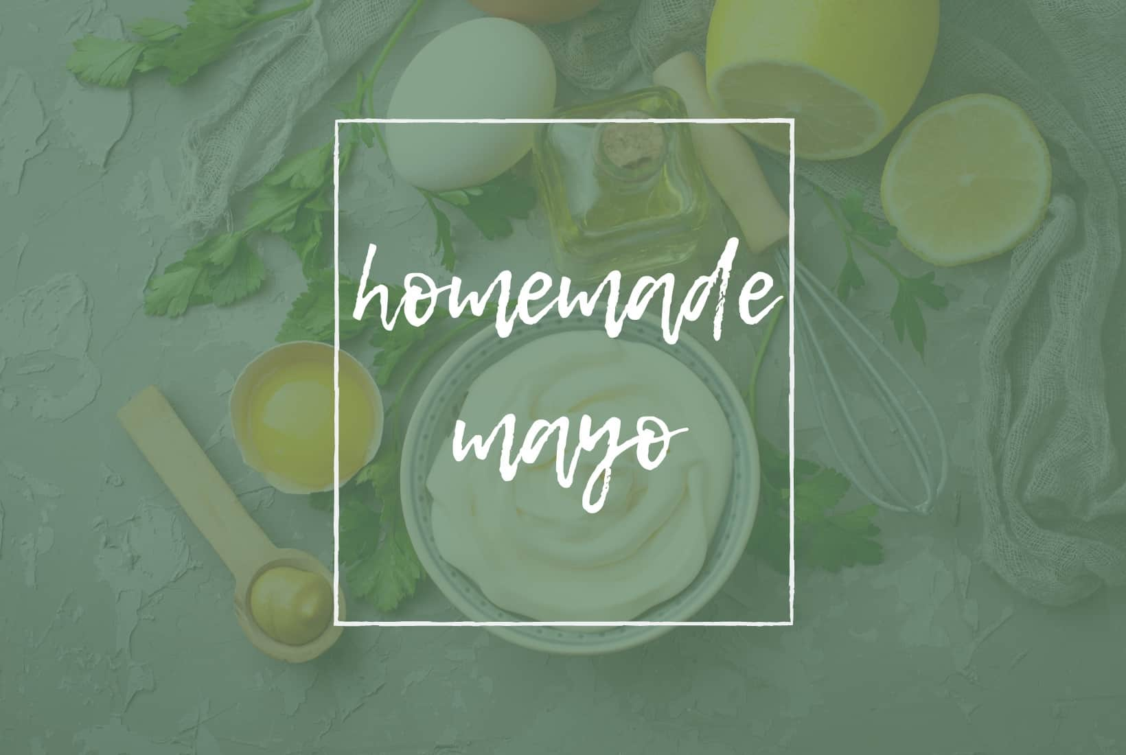 TITLE PAGE FOR HOMEMADE MAYO