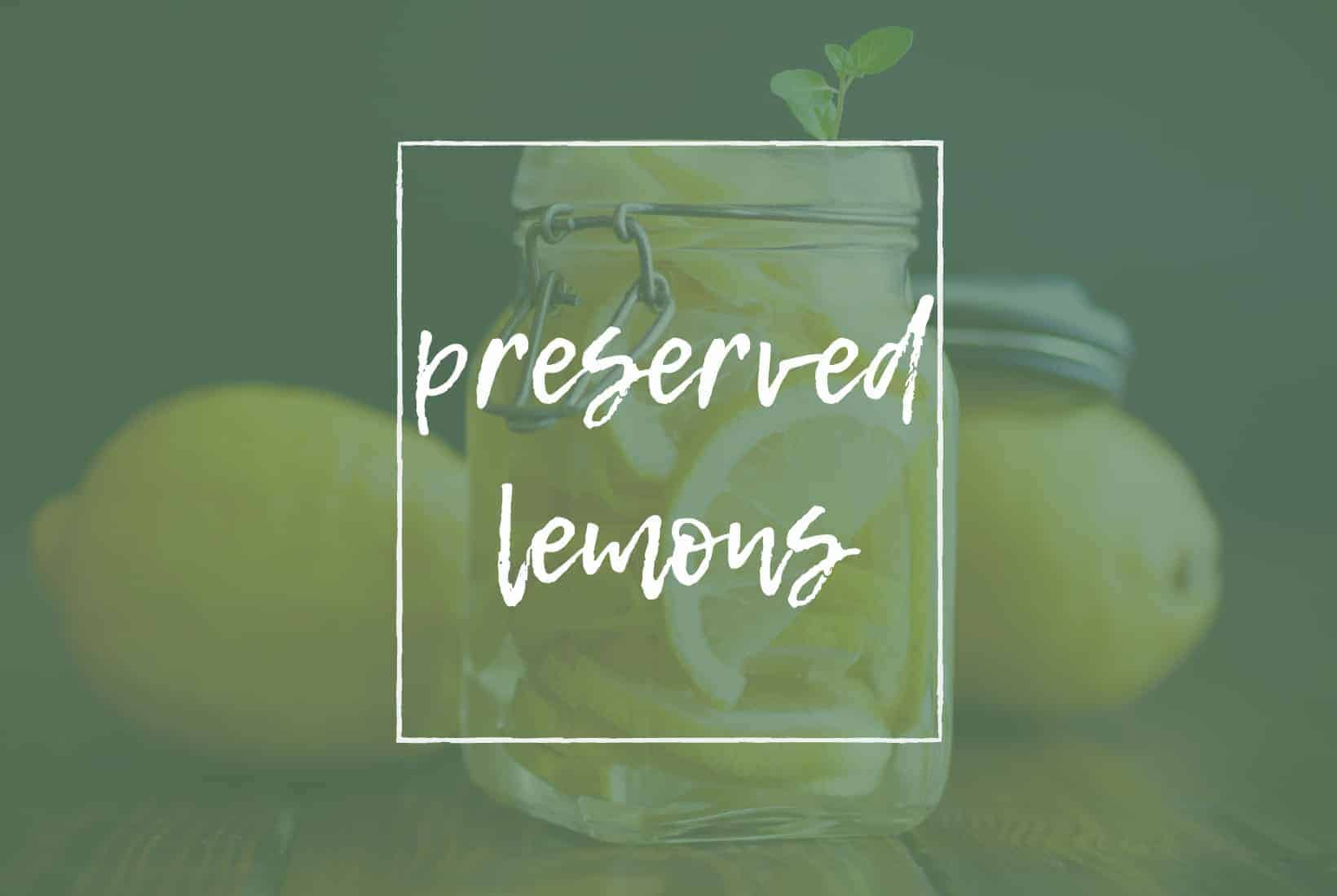 TITLE PAGE FOR PRESERVED LEMONS