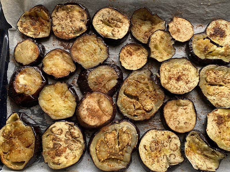 COOKED EGGPLANT ROUNDS