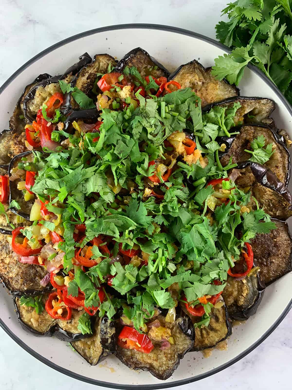 CHINESE EGGPLANT SALAD IN PORTRAIT