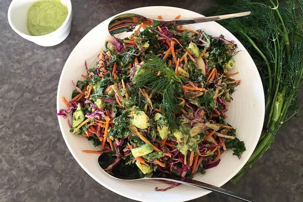 COLOURFUL KALE AVOCADO SALAD