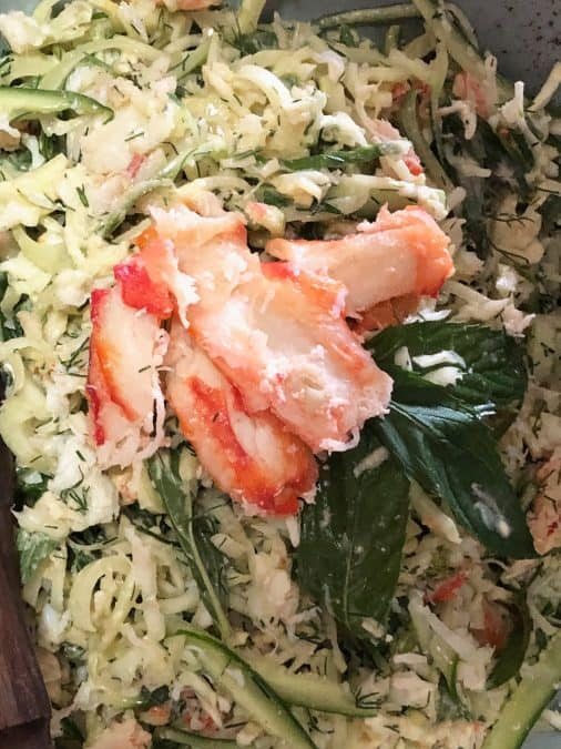 CLOSE UP FOR CRAB MEAT SALAD