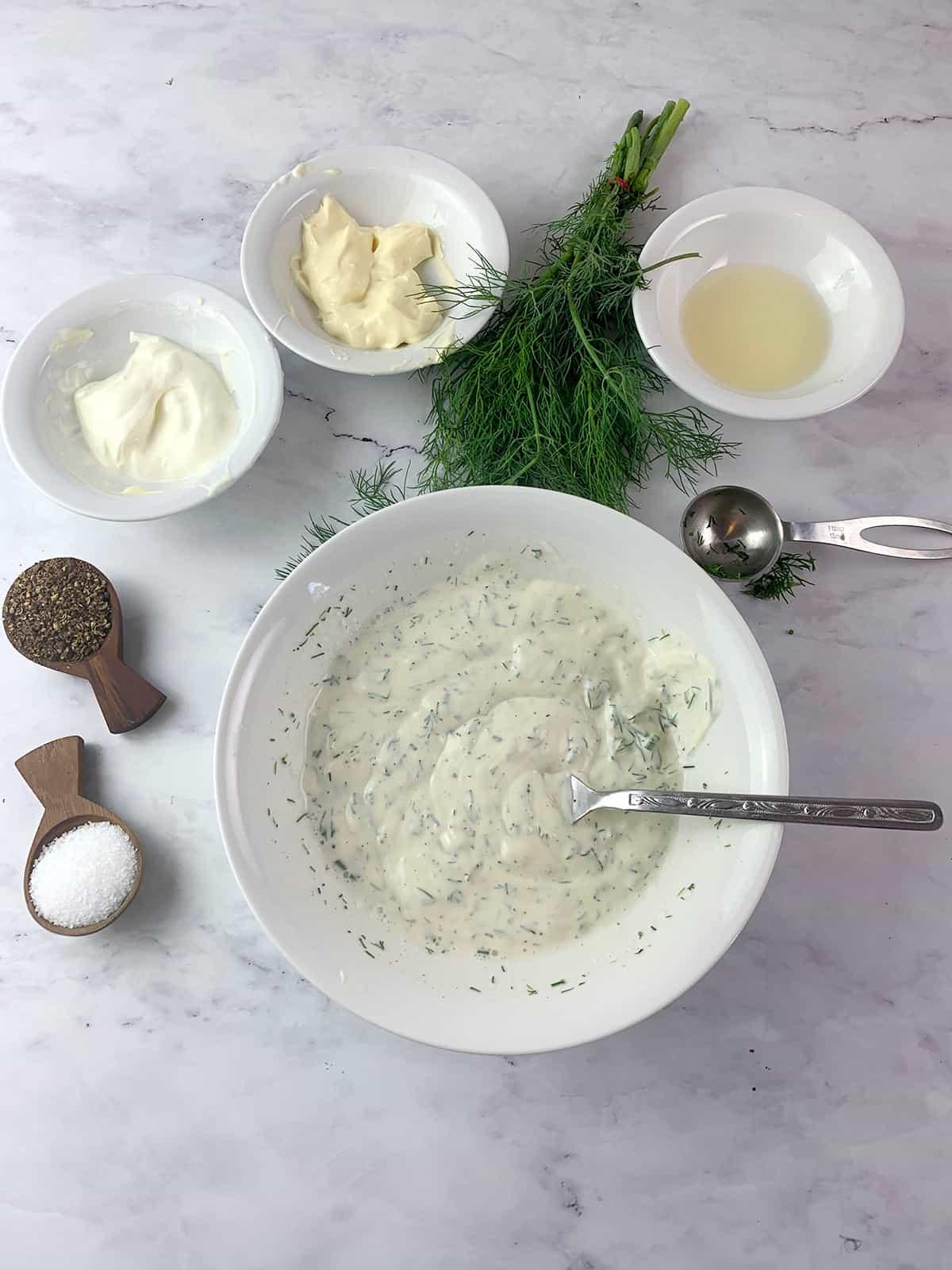 dill & yoghurt dressing