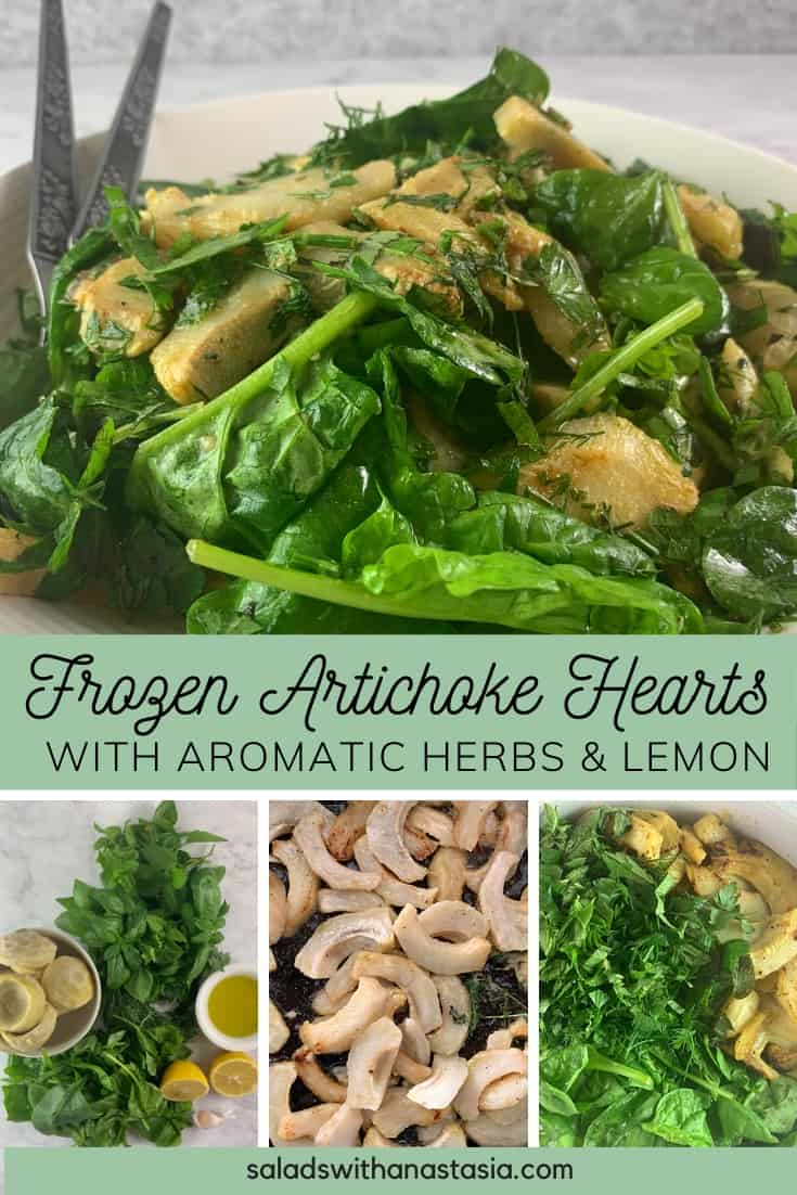 PINTEREST PIN FOR FROZEN ARTICHOKE HEARTS