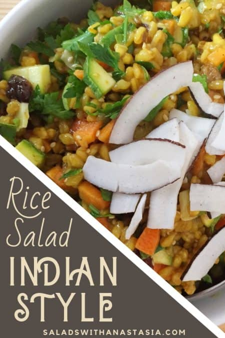PINTEREST PIN FOR INDAIN BROWN RICE SALAD