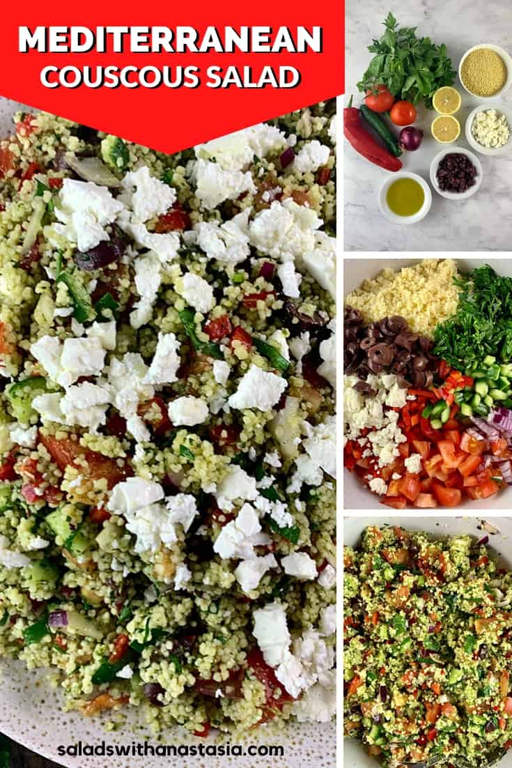 PINTEREST PIN FOR MEDITERRANEAN COUSCOUS SALAD