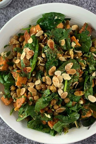 MOROCCAN ROASTED GARBANZO BEANS (CHICKPEAS) SALAD