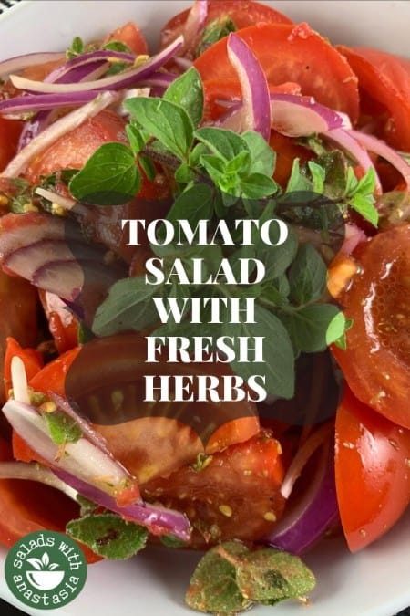 PINTEREST - TOMATO SALAD WITH FRESH HERBS