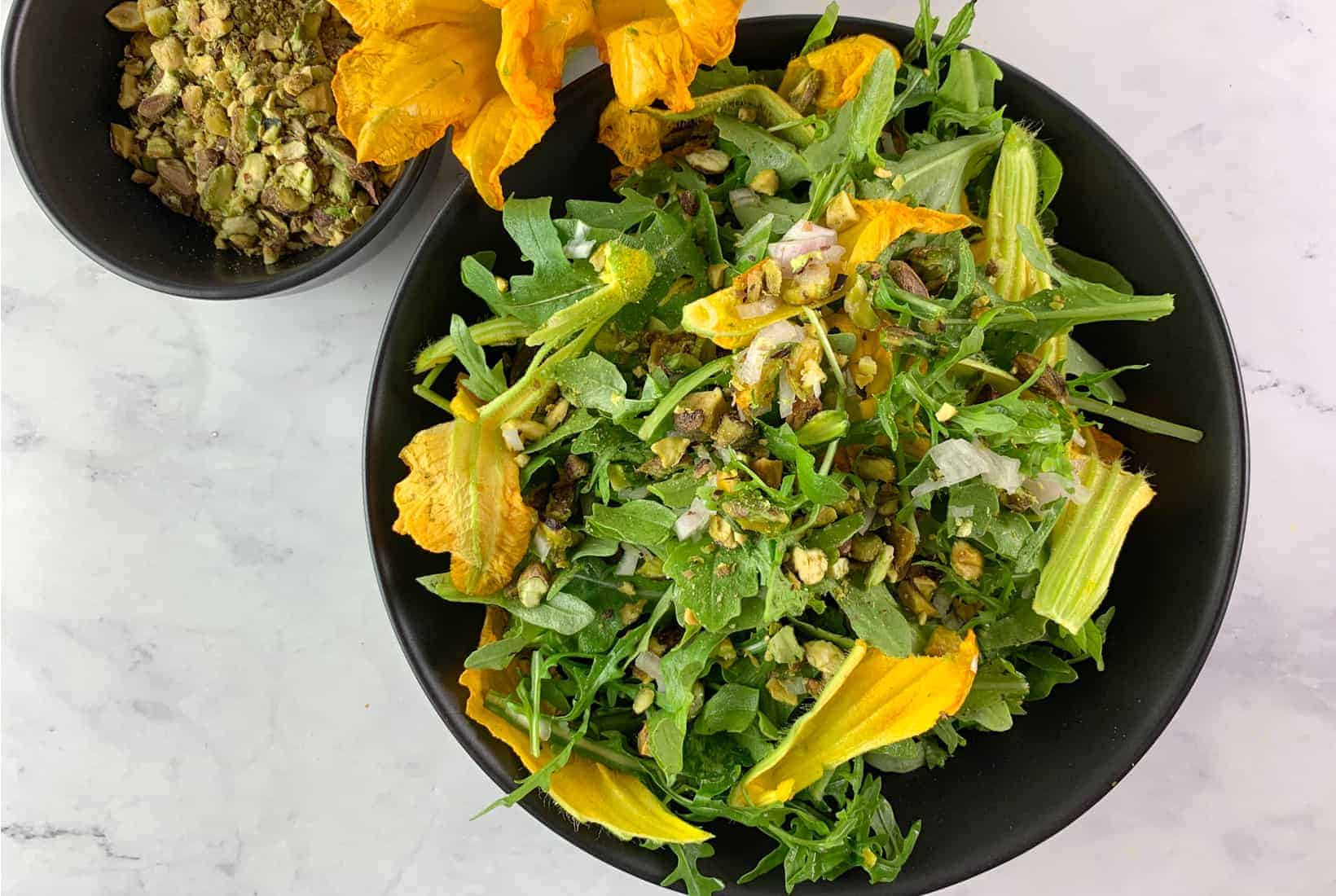 Arugula Salad Recipe With Squash Flowers Salads With Anastasia