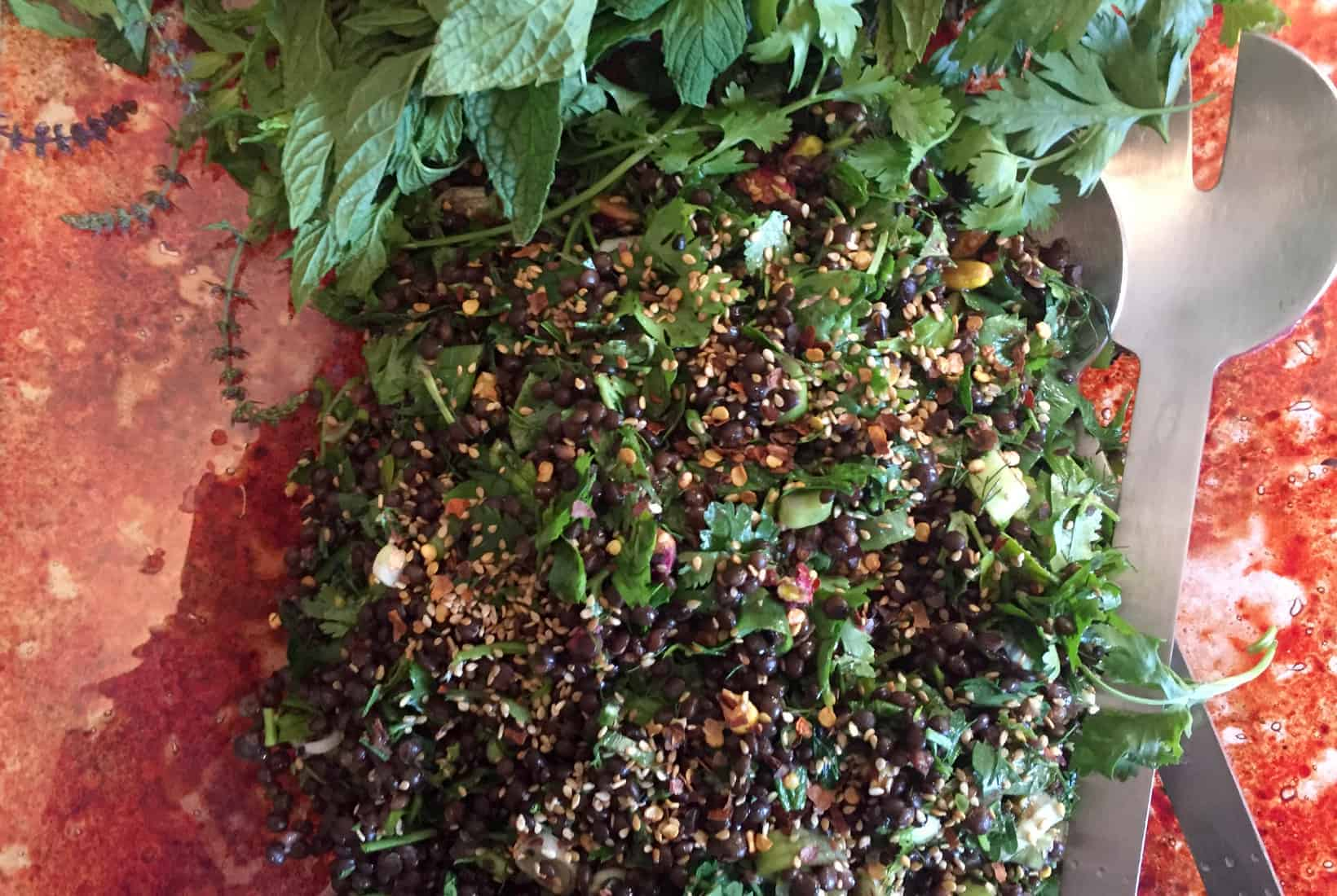 Black Lentil Salad Perfect For Picnics Salads With Anastasia