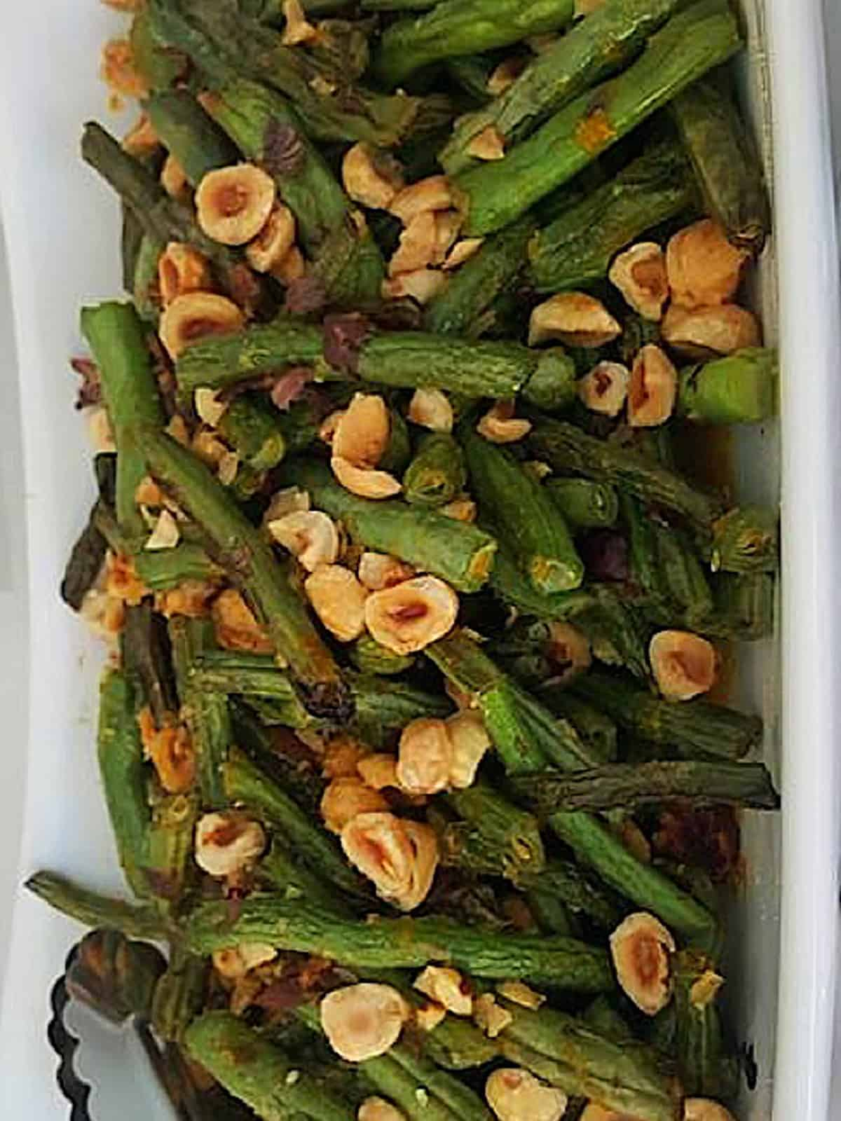 Sautéed Fresh Green Beans with Hazelnuts & Orange