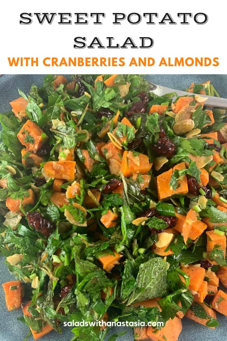 SWEET POTATO SALAD WITH CRANBERRIES
