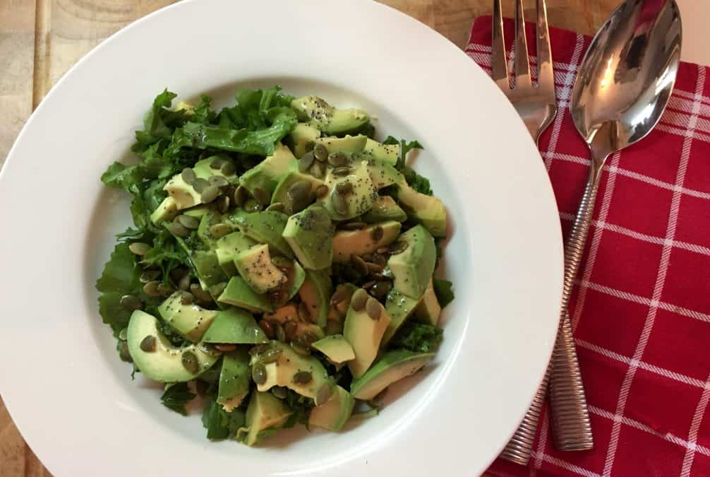 ARUGULA AVOCADO SALAD WITH SEEDS