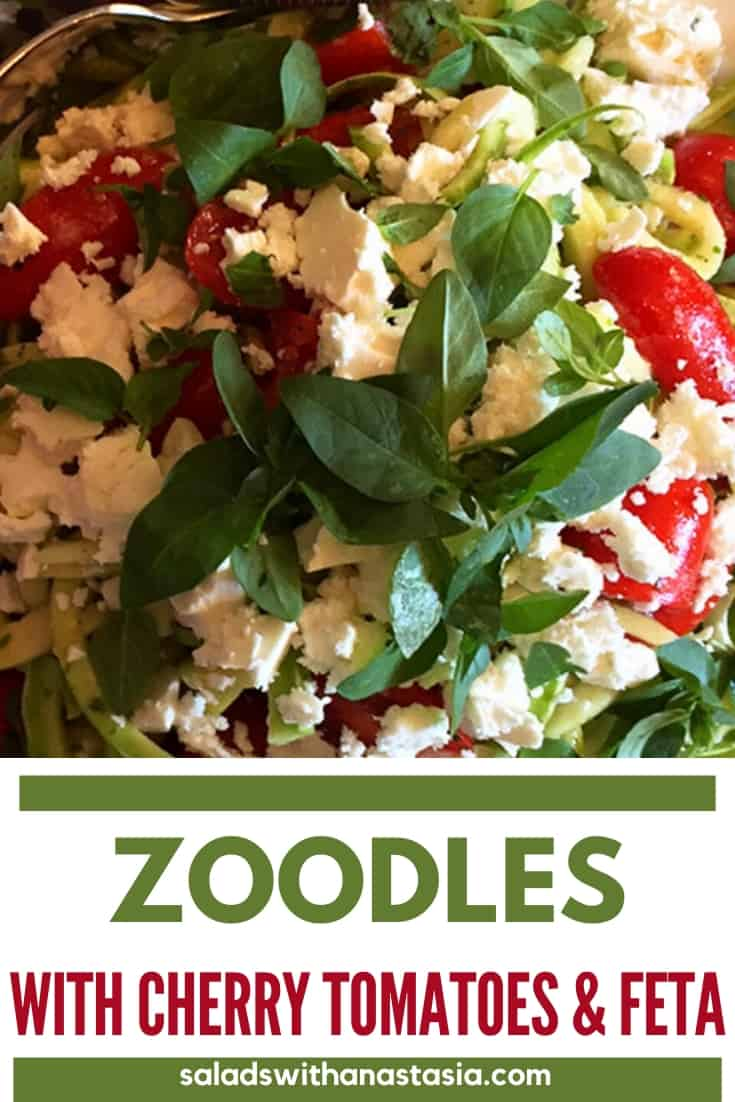 PINTEREST - CHERRY TOMATO SALAD WITH ZOODLES & FETA