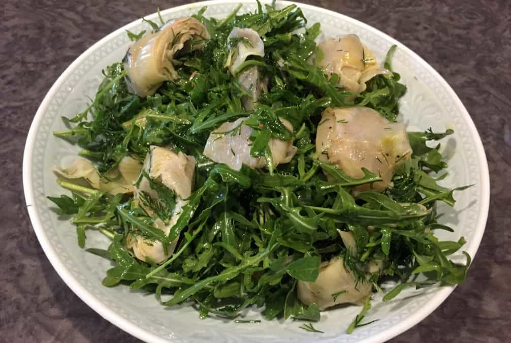 FRESH ARTICHOKE HEARTS WITH ROCKET & DILL
