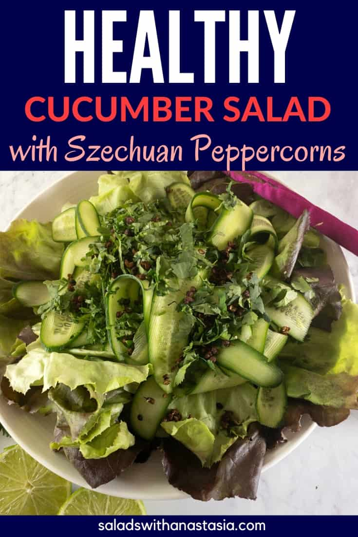 PINTEREST - HEALTHY CUCUMBER SALAD with SZECUHAN