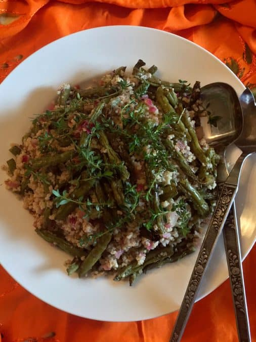 MILLET SALAD WITH GREEN BEANS AND ZA'ATAR