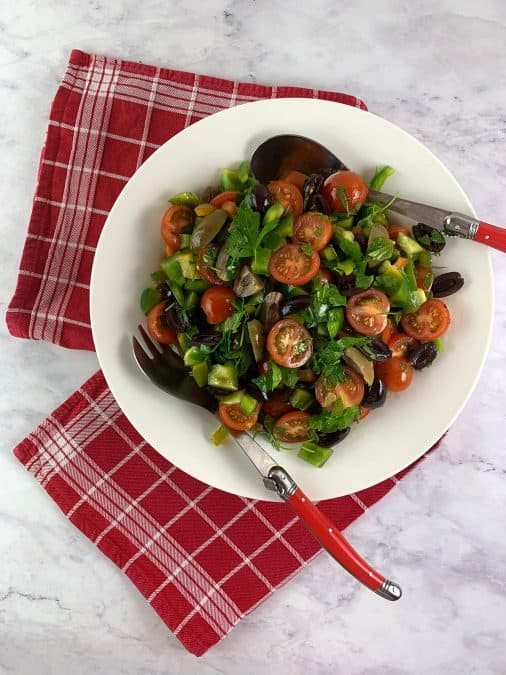 OLIVE SALAD WITH TOMATOES & PEPPERS