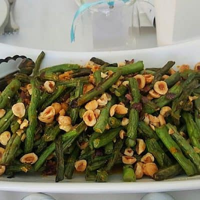 Sautéed Fresh Green Beans with Hazelnuts & Orange