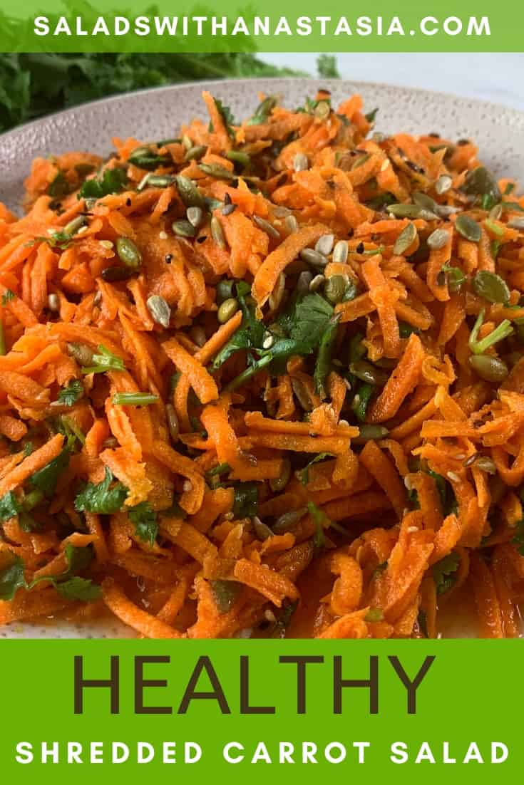 PINTEREST - SEEDY SHREDDED CARROT SALAD