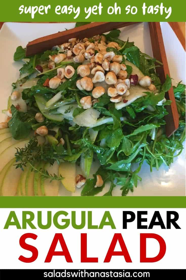 PINTEREST - ARUGULA PEAR SALAD