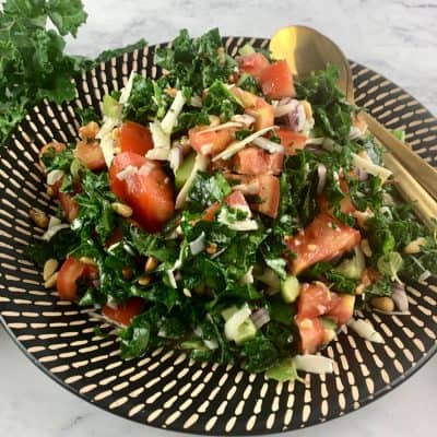 CHOPPED KALE SALAD IN LANDSCAPE