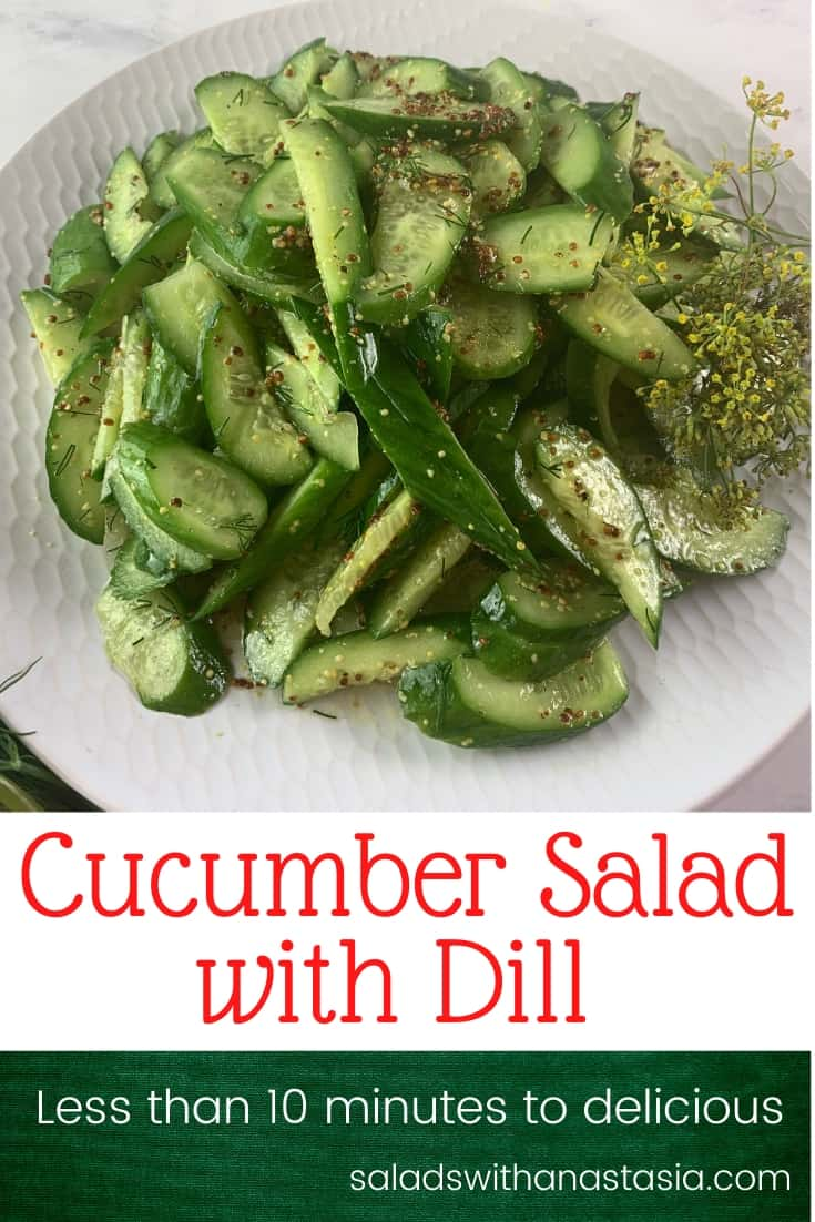 VEGAN CUCUMBER SALAD WITH DILL AND WHOLE GRAIN MUSTARD