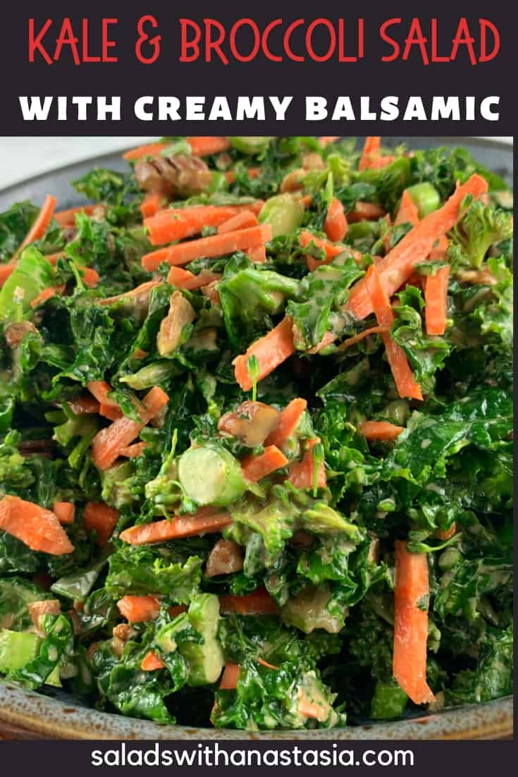 pinterst - KALE AND BROCCOLI SALAD