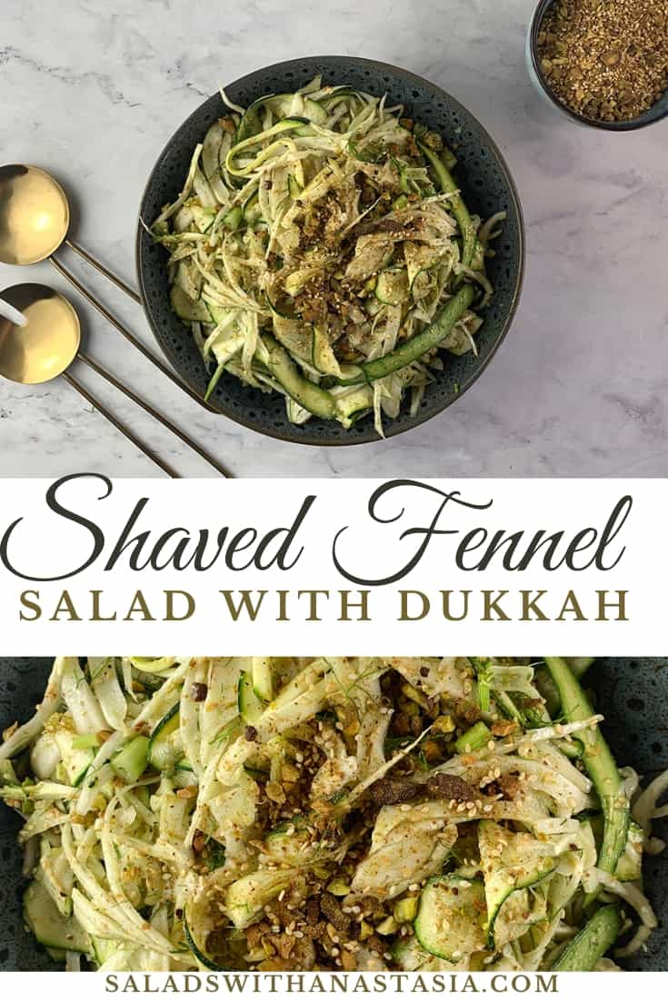 PINTEREST - SHAVED FENNEL SALAD WITH DUKKAH
