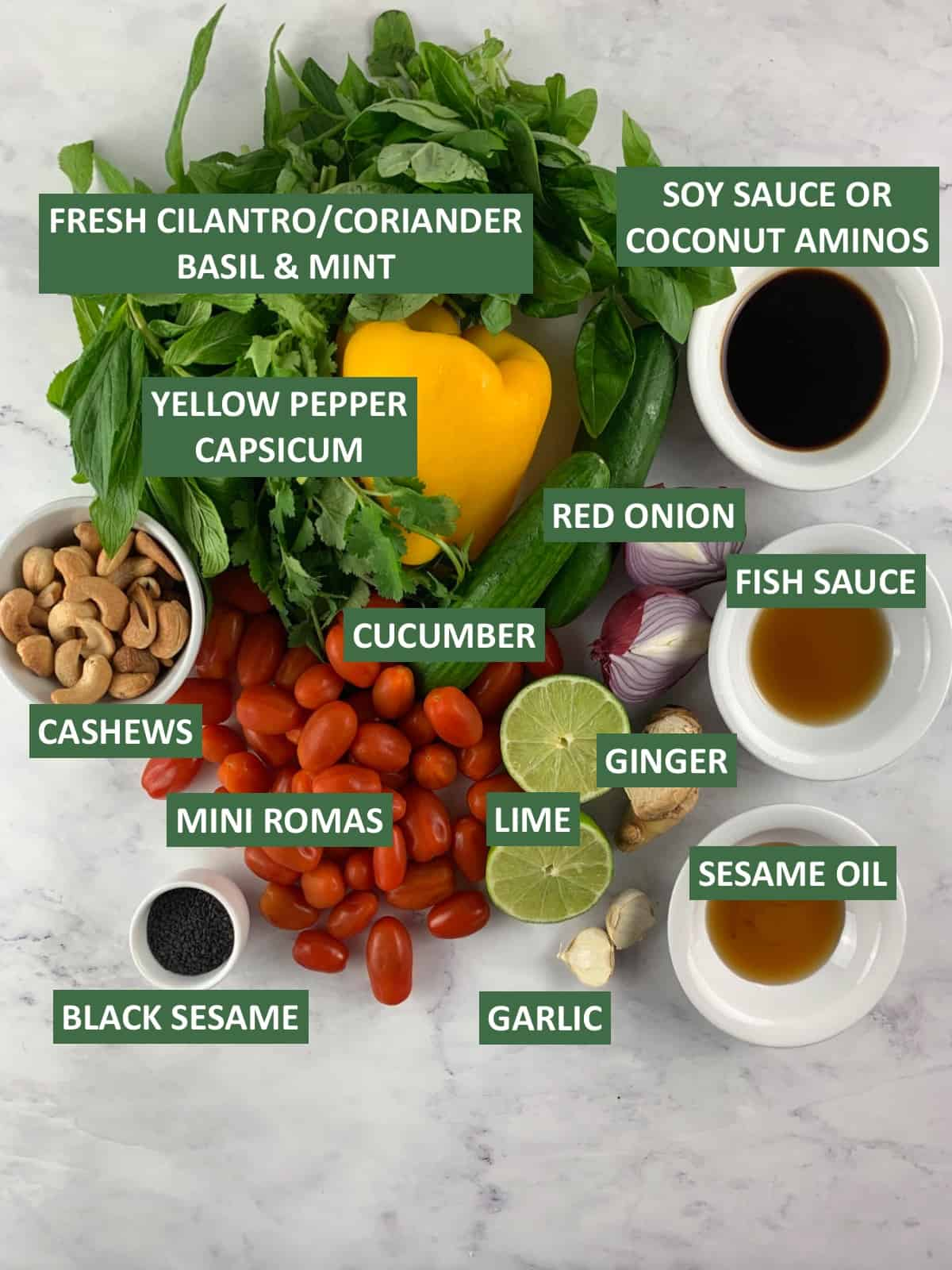 ASIAN CHOPPED SALAD INGREDIENTS WITH TEXT