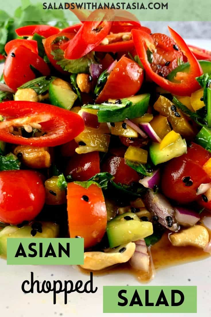 ASIAN CHOPPED SALAD WITH TEX OVERLAY