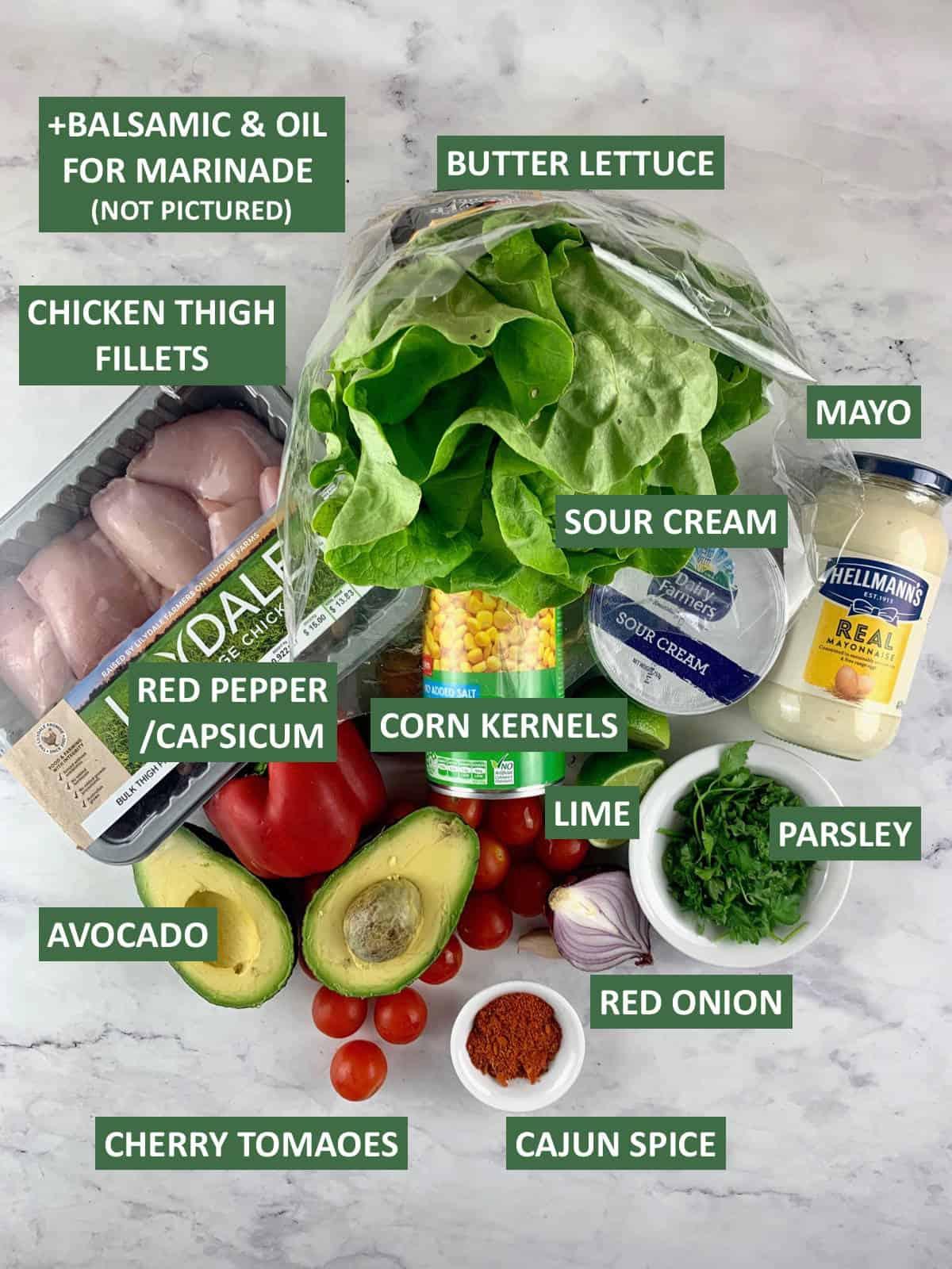 INGREDIENTS FOR MAKING CAJUN CHICKEN SALAD