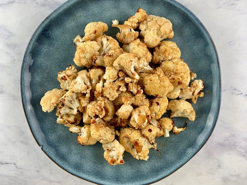 ROASTED MISO CAULIFLOWER FLORETS IN BOWL