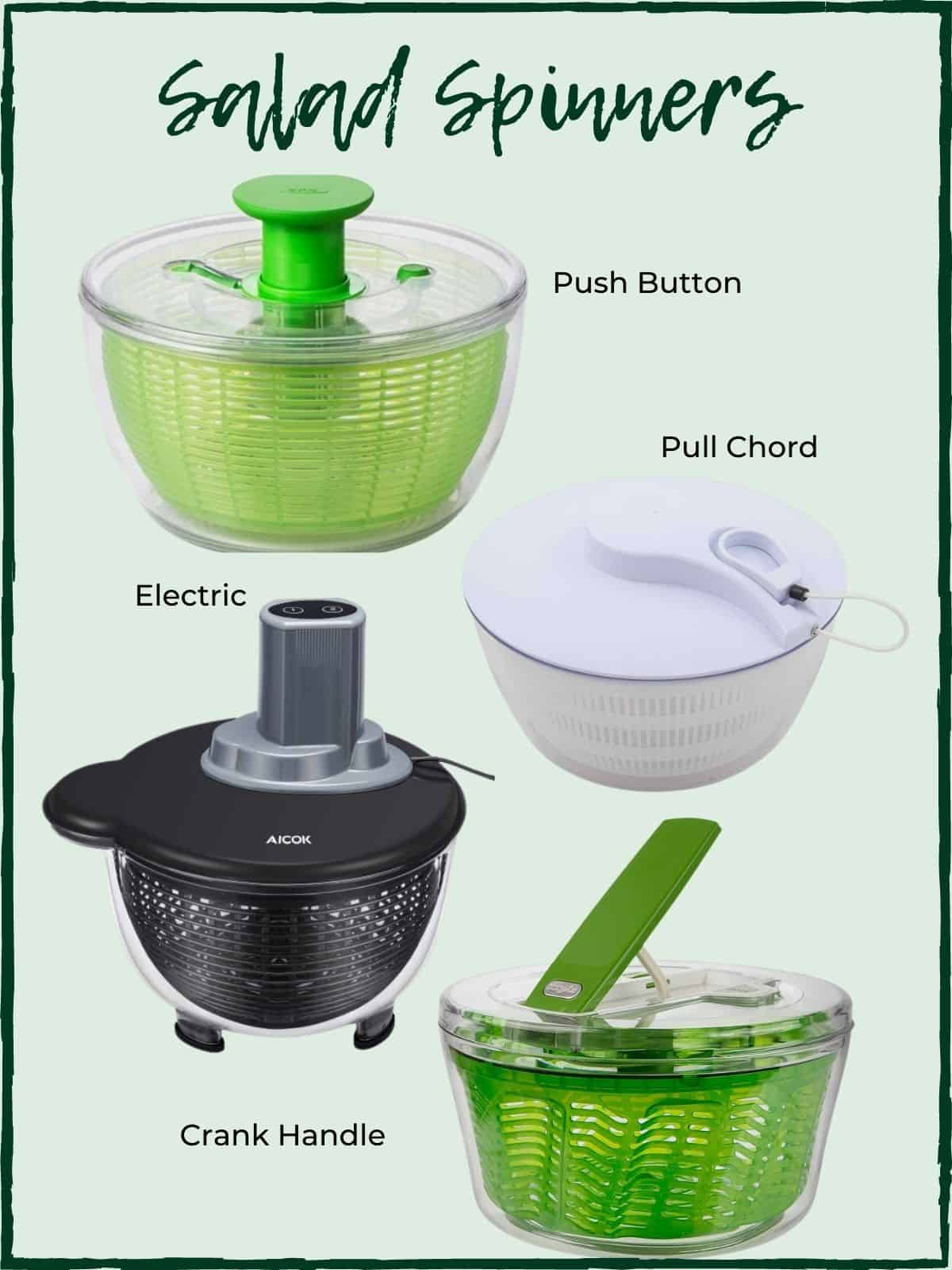Types of salad spinners