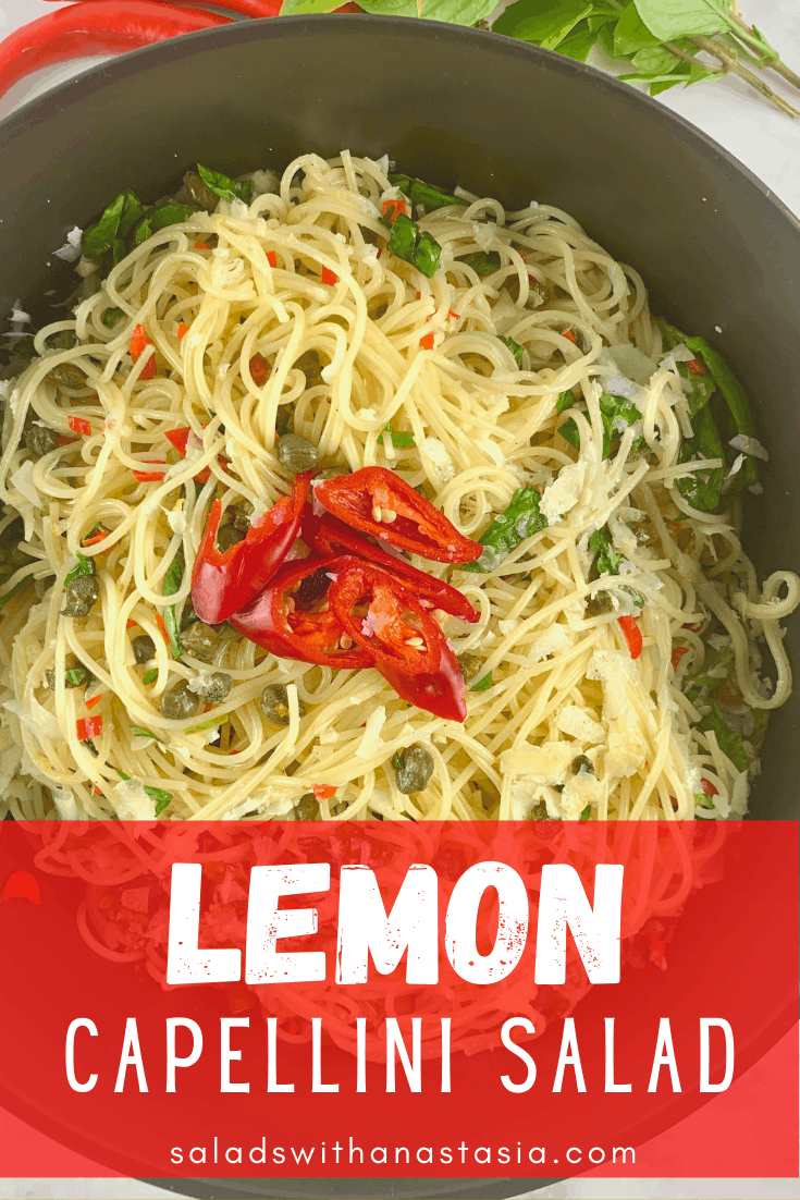 LEMON CAPELLINI SALAD WITH TEXT OVERLAY