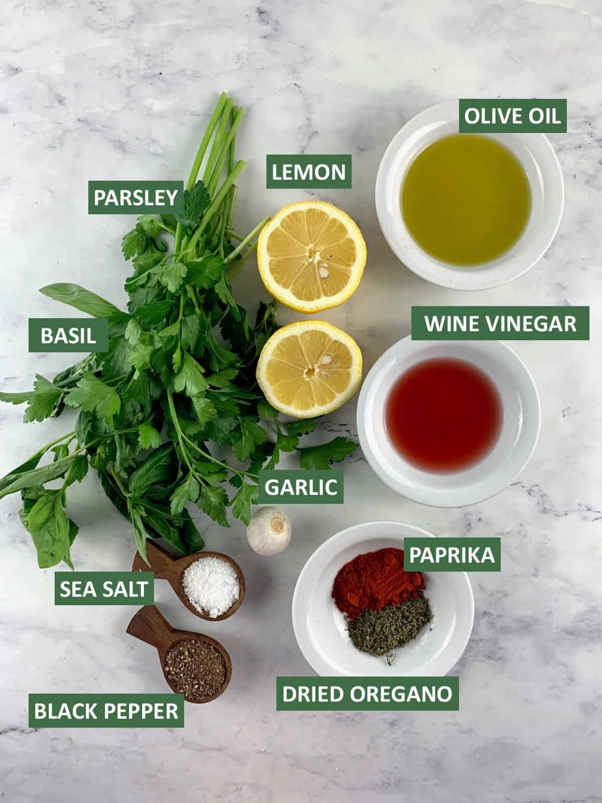 INGREDIENTS NEEDED TO MAKE ITALIAN VINAIGRETTE WITH TEXT