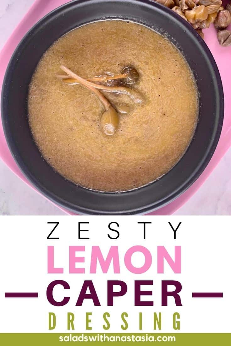 LEMON CAPER DRESSING with text overlay