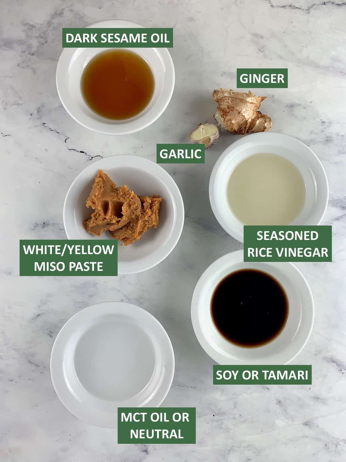 MISO VINAIGRETTE INGREDIENTS WITH TEXT