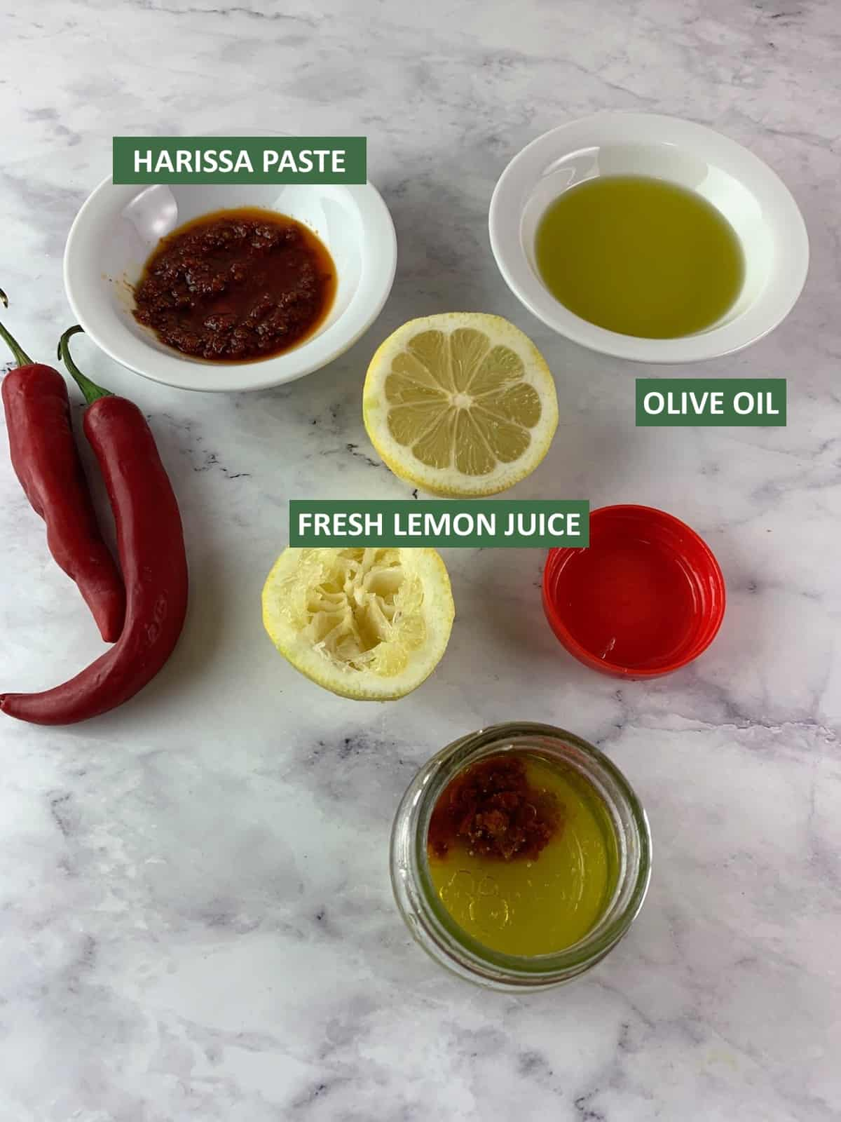INGREDIENTS NEEDED TO MAKE HARISSA VINAIGRETTE